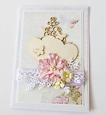 Papiernictvo - pohľadnica svadobná - 10292893_