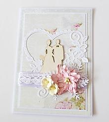 Papiernictvo - pohľadnica svadobná - 10292901_
