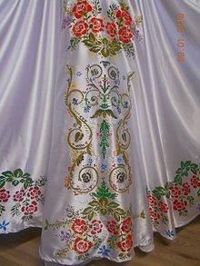 """Sukne - FLORAL FOLK """" Ornamentika """", spoločenská dlhá sukňa, ručná maľba - 10294887_"""