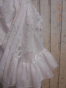 Sukne - Spodnička z organzy, biela perleť, v dĺžke midi. - 10295230_