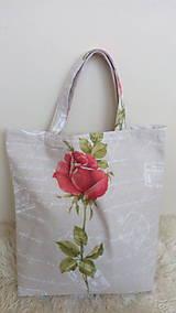 Nákupné tašky - Taška ruža - 10296041_