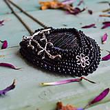 Náhrdelníky - Větvičkový - vyšívaný náhrdelník  - 10296059_