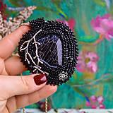 Náhrdelníky - Větvičkový - vyšívaný náhrdelník - 10296060_