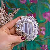 Náhrdelníky - Větvičkový n.2 - vyšívaný náhrdelník - 10296063_