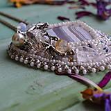 Náhrdelníky - Větvičkový n.2 - vyšívaný náhrdelník - 10296064_