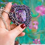 Náhrdelníky - Větvičkový n.3 - vyšívaný náhrdelník - 10296072_