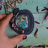 Náhrdelníky - Větvičkový n.4 - vyšívaný náhrdelník - 10296077_