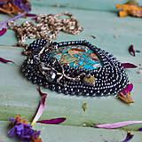 Náhrdelníky - Větvičkový n.4 - vyšívaný náhrdelník - 10296078_