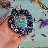 Náhrdelníky - Větvičkový n.4 - vyšívaný náhrdelník - 10296079_