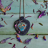 Náhrdelníky - Větvičkový n.4 - vyšívaný náhrdelník - 10296080_
