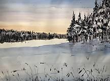 Obrazy - Zimna krajina - 10294778_