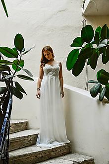 60b9186606 Šaty - Svadobné romantické šaty.ZĽAVA - 10295278