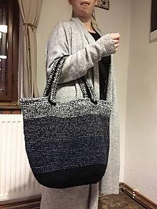 Veľké tašky - Háčkovaná shopping taška - 10292662_