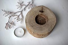 Svietidlá a sviečky - Svietnik natur ORECH - 10293263_