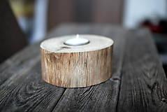 Svietidlá a sviečky - Svietnik natur ORECH - 10293404_