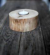 Svietidlá a sviečky - Svietnik natur ORECH - 10293407_