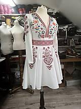 Šaty - Vyšívané šaty Slavianka - 10291960_