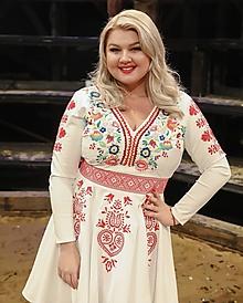 Šaty - Vyšívané šaty Slavianka - 10291959_