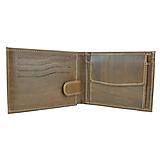 Tašky - Pánska ručne tamponovaná kožená peňaženka, melírový efekt mahagónového dreva - 10294932_