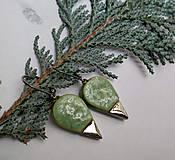 Náušnice - Keramické náušnice - zelené - 10295878_