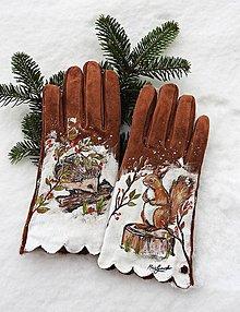 Rukavice - zvieratká z lesa - 10293515_