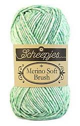 Galantéria - Merino Soft Brush - Zelený melír - č. 255 - 10292306_
