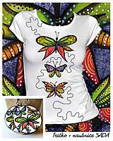 Tričká - Sada Butterfly - tričko + náušnice - 10293167_
