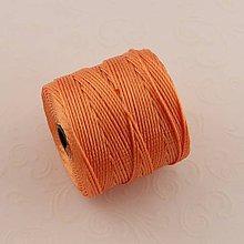 Galantéria - Nylonové nite 0,62 mm (Oranžová) - 10294968_