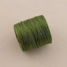 Galantéria - Nylonové nite 0,62 mm (Zelená) - 10295000_