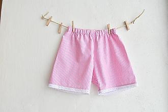 Detské oblečenie - Ružové kraťasky - 10295750_