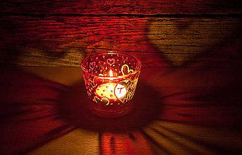 Svietidlá a sviečky - VÝPREDAJ - Valentínsky svietnik - TY+JA=MY - 10294507_