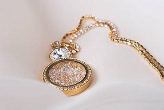 Náhrdelníky - Honey crystal náhrdelník Anabelle - 10295916_