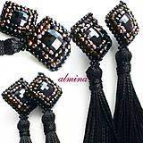 Náušnice - Hravá čierna elegancia - 10295647_