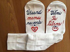 Obuv - Maľované ponožky pre úžasnú mamu - 10292621_