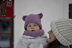 Detské čiapky - Brumbrum...staroružová - 10293671_