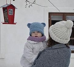 Detské čiapky - Brumbrum...staromodrá - 10293568_