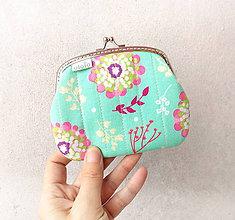 Peňaženky - Peňaženka XL S veľkými kvetmi - 10292019_