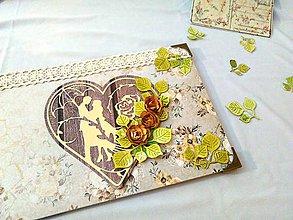 Papiernictvo - Svadobná kniha hostí Srdce - 10294747_