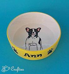 Pre zvieratká - Miska pre psa s menom - Francúzsky buldoček 2 - 10293672_