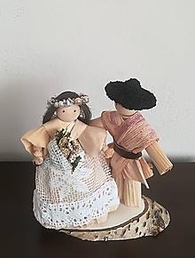 Socha - Mladomanželia zo šúpolia - 10295975_