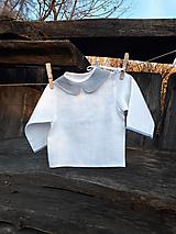 Detské oblečenie - Ľanová košielka Blue - 10295693_