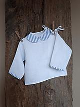 Detské oblečenie - Ľanová košielka Blue Stripes - 10295736_