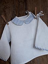 Detské oblečenie - Ľanová košielka Blue Stripes - 10295737_