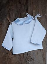Detské oblečenie - Ľanová košielka Blue Stripes - 10295740_