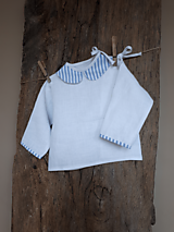 Detské oblečenie - Ľanová košielka Blue Stripes - 10295741_