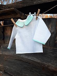 Detské oblečenie - Ľanová košielka Mint - 10295703_