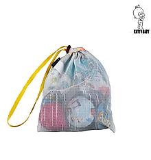 Úžitkový textil - SADA - Recy vrecúško a 5 párov ( =10ks) odličovacích tampónov - 10299819_