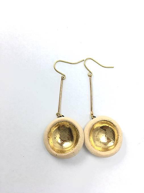 naušničky - keramika/zlato