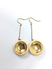 Náušnice - naušničky - keramika/zlato - 10296173_
