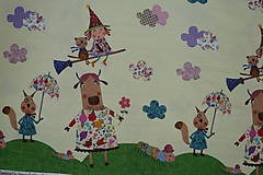 Textil - Čarodejnice úplet digi - 10296897_